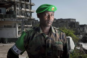 ANISOM soldier stationed in Mogadishu, Somalia