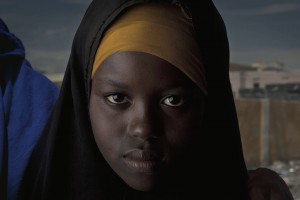 print, prints, socio-documentary, art, gallery, camp, refugee, war, food, aid, girl, Somalia, hijab,